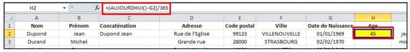 Excel 2010 - formules et fonctions - fonction date