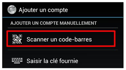 Scanner un code-barres