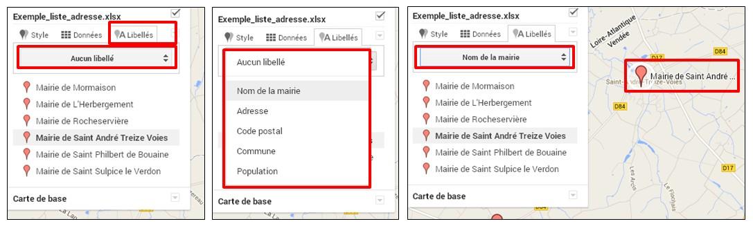 creer une carte google map a partir d une liste adresse - ajouter un libelle
