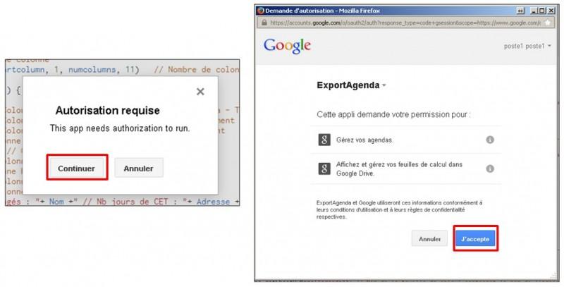 Google formulaire agenda - lier le script a l agenda