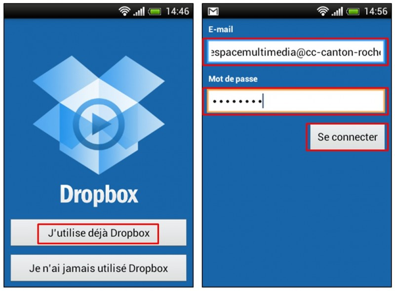 synchroniser ses photos smartphone tablette pc avec Dropbox - installer l application Dropbox