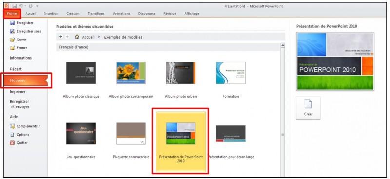 04 - PowerPoint 2010 - les bases d un logiciel de presentation - Utiliser un modele