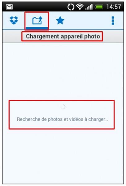 synchroniser ses photos smartphone tablette pc avec Dropbox - parametrage du transfert