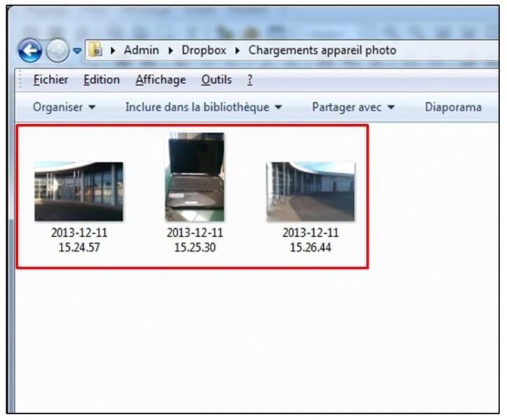 synchroniser ses photos smartphone tablette pc avec Dropbox - visualiser ses photos sur son ordinateur