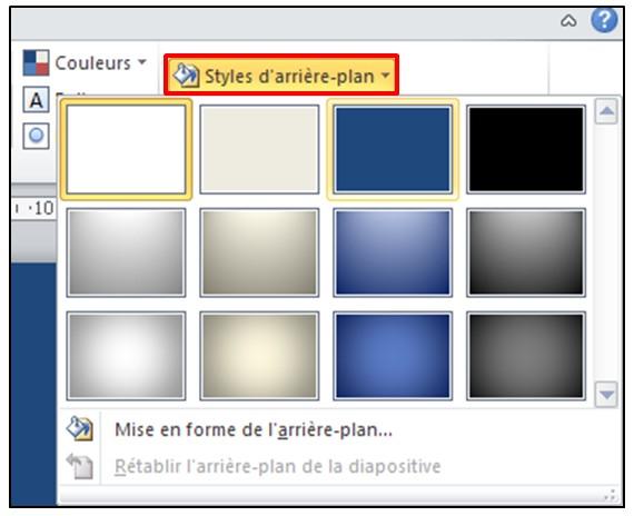 11 - PowerPoint 2010 - les bases d un logiciel de presentation - ajouter un arriere plan