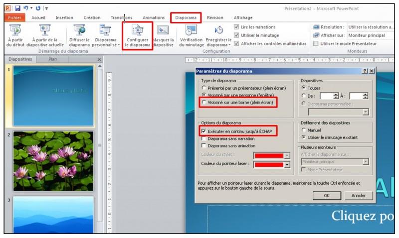 14 - PowerPoint 2010 - les bases d un logiciel de presentation - diaporama en boucle
