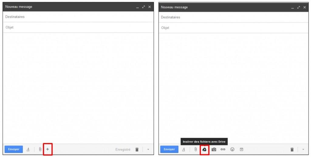 01 - Gmail envoyer des pieces jointes volumineuses avec Google Drive - creer un nouveau mail