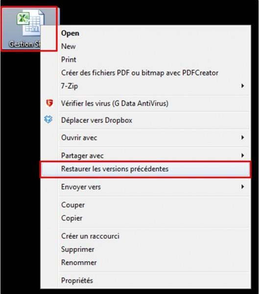 01 - Recuperer la version precedente d un document - restaurer les versions