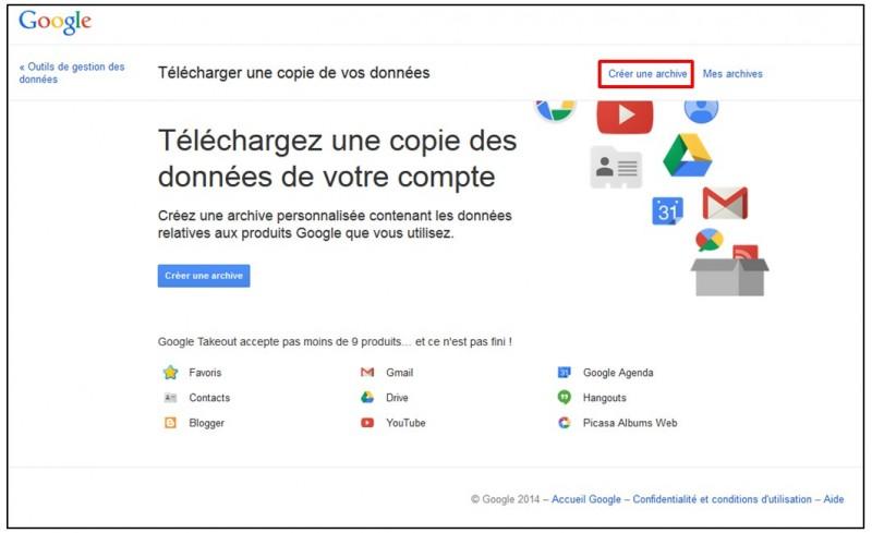 Sauvegarder Gmail sur son Ordinateur avec Google Takeout