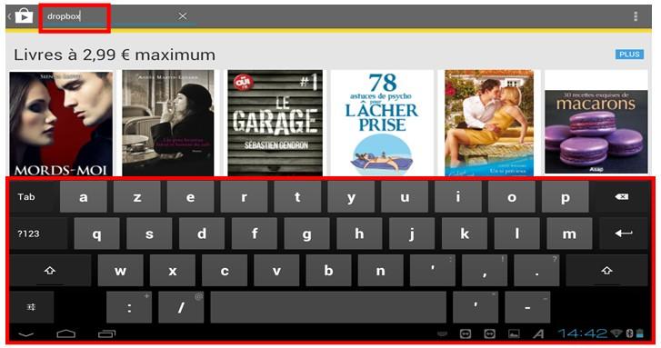 Decouverte et utilisation des tablettes tactiles Android - telecharger une application sur Google Play Store