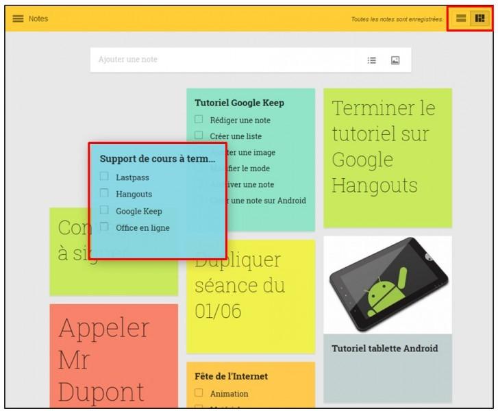 02 - Prendre des notes avec Google Keep - l interface