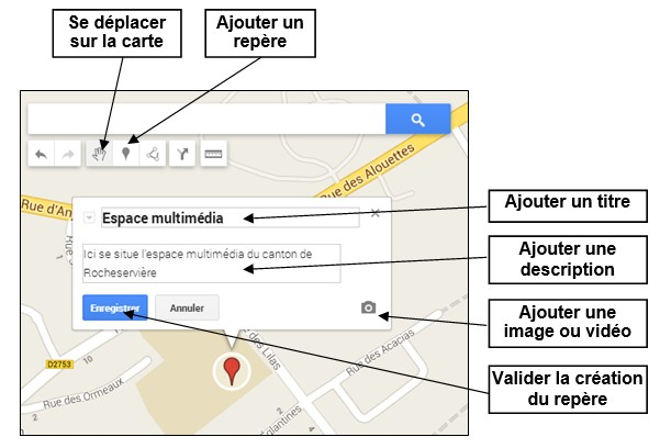 creer une carte personnalisee avec Google Map - ajouter un repere