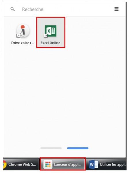 Utiliser les applications sur Google Chrome - utiliser le lanceur d application Google