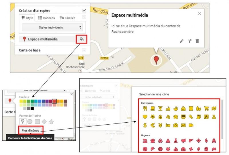 06 - creer une carte personnalisee avec Google Map - modifier un repere