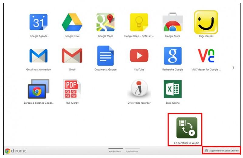 Utiliser les applications sur Google Chrome - desinstaller une application