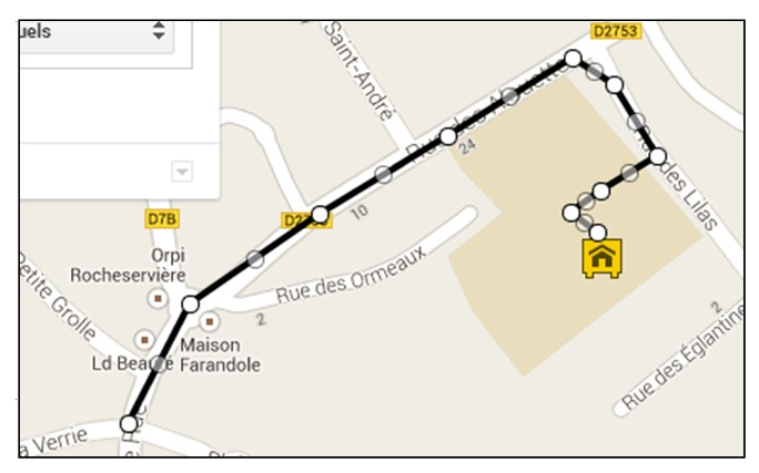 creer une carte personnalisee avec Google Map - ajouter une ligne