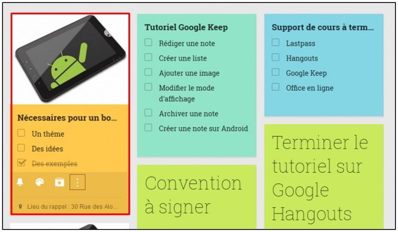 Prendre des notes avec Google Keep - ajouter une image