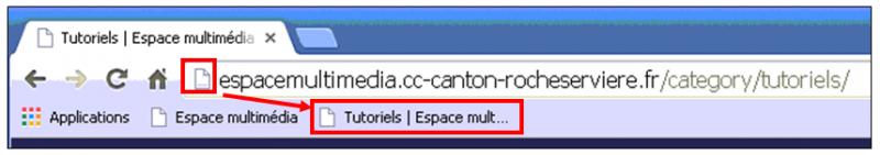 Utiliser le navigateur Google Chrome - ajouter un favoris