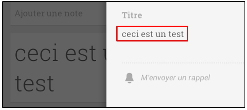 Prendre des notes avec Google Keep - android note vocale