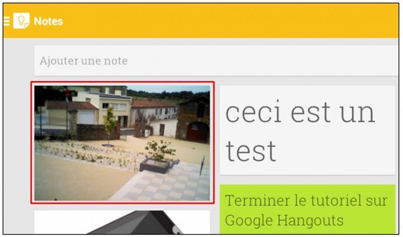 Prendre des notes avec Google Keep - android prendre une photo