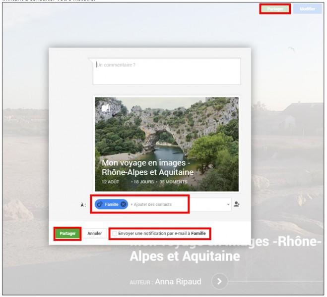 creer des albums photos depuis son mobile avec Google Histoires - partager une histoire