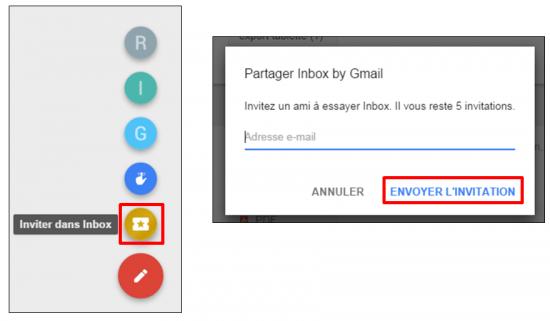 Faciliter la gestion des mails avec Inbox by Gmail - Envoyer une inviation