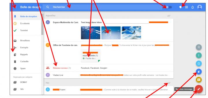Faciliter la gestion des mails avec Inbox by Gmail - L interface Inbox
