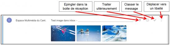 Faciliter la gestion des mails avec Inbox by Gmail - Icones de gestion d un mail