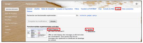 04 - Fonctions avancees de Gmail - trucs et astuces - Utiliser un volet d apercu de message