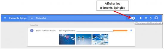 Faciliter la gestion des mails avec Inbox by Gmail - Epingler dans la boite de reception