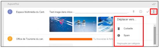 Faciliter la gestion des mails avec Inbox by Gmail - Deplacer un mail vers un libelle