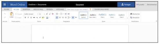 decouverte du traitement de texte Word Online - l application