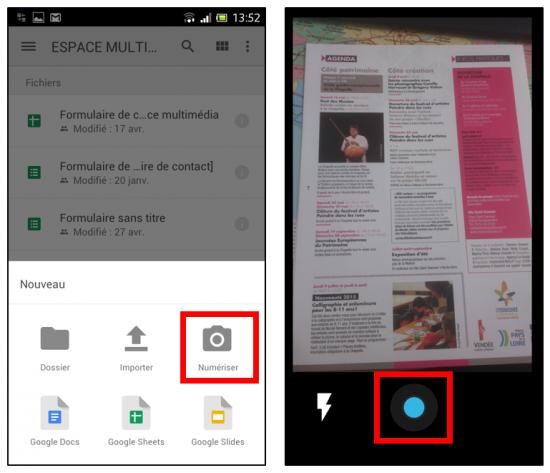 Numériser un document depuis son smartphone