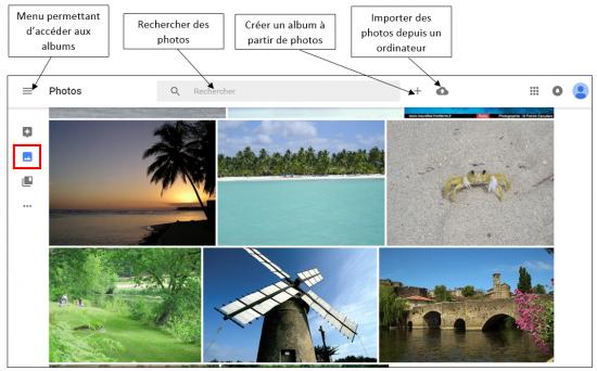 03 - Google Photos stockage gratuit et illimite de photos en ligne - Interface