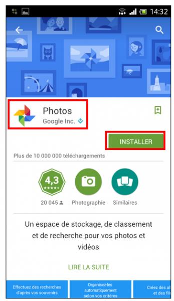 07 - Google Photos stockage gratuit et illimite de photos en ligne - Application Android Google Photos