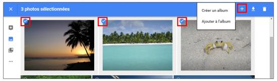 13 - Google Photos stockage gratuit et illimite de photos en ligne - Creer des albums