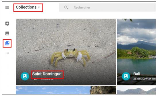 15 - Google Photos stockage gratuit et illimite de photos en ligne - Visualiser des albums