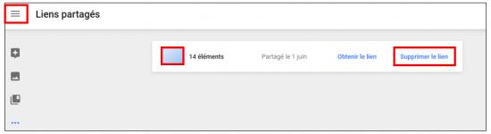 20 - Google Photos stockage gratuit et illimite de photos en ligne - Visualiser les liens partages
