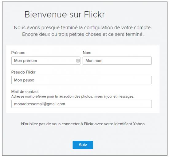 Flickr service de stockage et de partage de photos en ligne - creer un compte