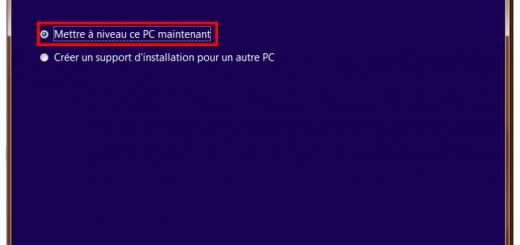 Créer un support d'installation Windows 10 - Mise à niveau immédiate