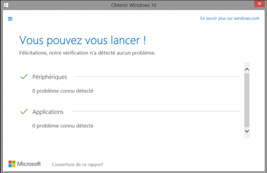 FAQ Windows 10 - Verifier la compatibilite du materiel