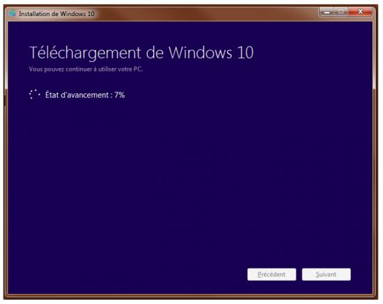 Créer un support d'installation Windows 10 - Téléchargement de Windows 10