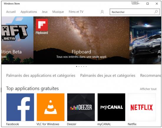Les principales nouveautés de Windows 10 - Windows Store