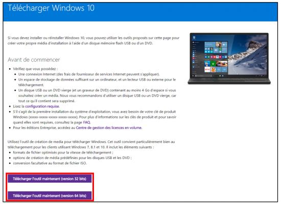 FAQ Windows 10 - Telecharger Windows 10 avec l utilitaire creation de media