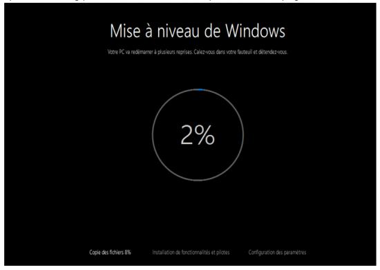 Mise à jour Windows 7 et 8.1 vers Windows 10 - Suivi du processus de mise à niveau