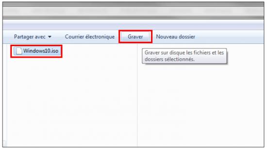 Créer un support d'installation Windows 10 - Graver l'image ISO