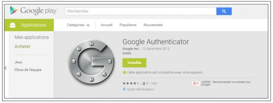 Télécharger Google Authenticator