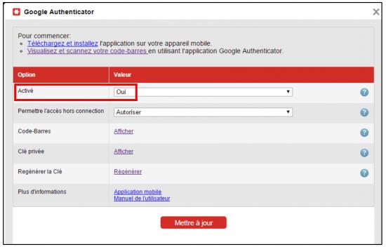 Activer Google Authenticator dans LastPass