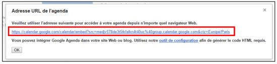 06 - Partager un agenda Google sur Internet - Copier l'URL d'un agenda public