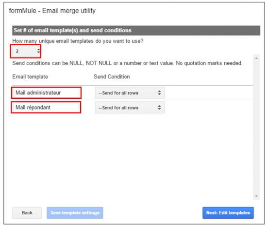 Créer un second modèle de mail pour les répondant
